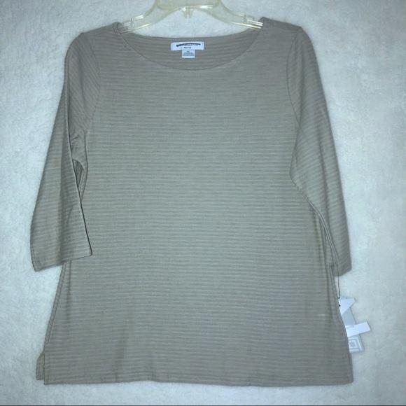 3840bc69 Liz Claiborne Tops | Long Sleeve 34 Tee Size Pl Nwt | Poshmark